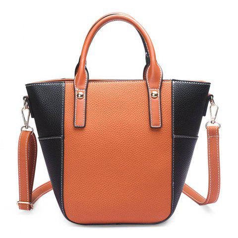 Cheap Stitching Color Blocking Rivets Crossbody Bag