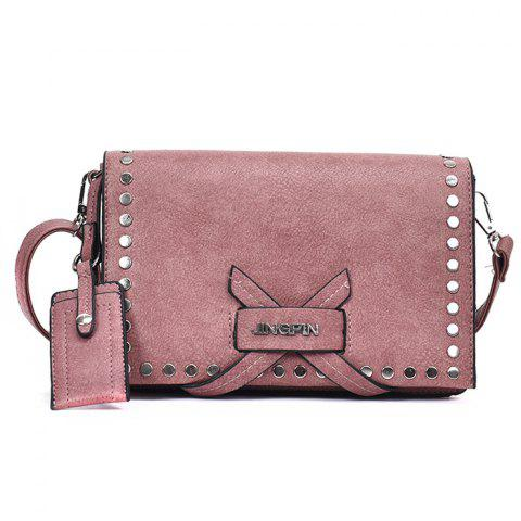 Chic Criss Cross Rivets Crossbody Bag
