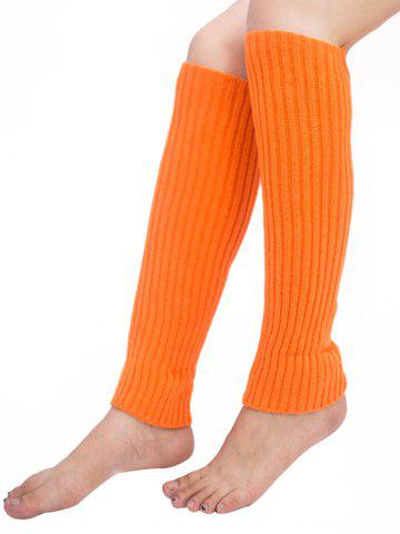 Fashion Vertical Striped Pattern Knitted Leg Warmers