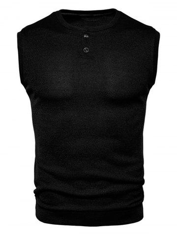 Sale Buttons Design Crew Neck Vest