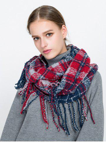 Sale Tassel Plaid Ring Scarf