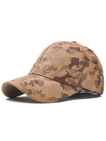 Outfit Outdoor Camouflage Pattern Baseball Hat - KHAKI  Mobile