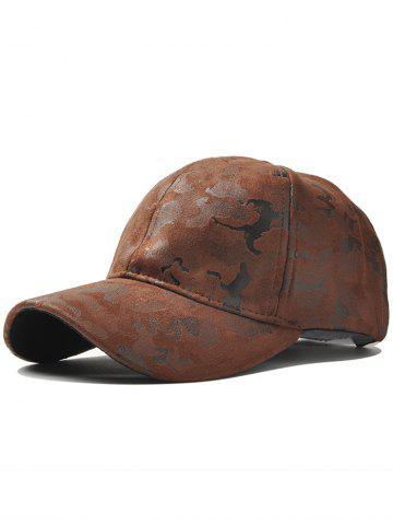 Best Outdoor Camouflage Pattern Baseball Hat COFFEE