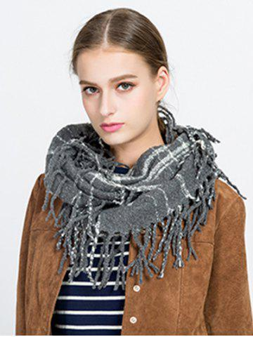Shops Tassel Plaid Ring Scarf