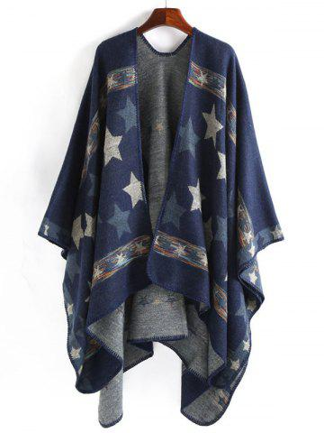 Shop Stars Pattern Design Thicken Pashmina - CADETBLUE  Mobile