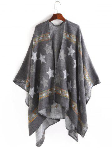 New Stars Pattern Design Thicken Pashmina - GRAY  Mobile