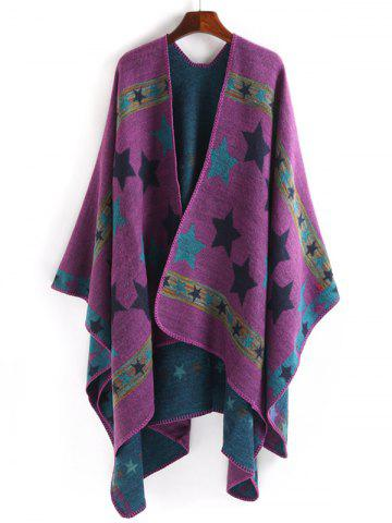 Cheap Stars Pattern Design Thicken Pashmina PURPLE