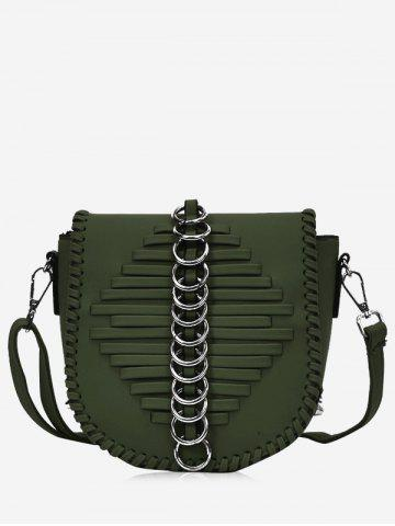 Online Faux Leather Whipstich Crossbody Bag