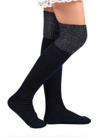 Store Ribbed Knitted Plain Stockings