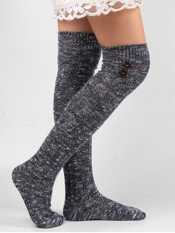 Shops Button Knitted Stockings
