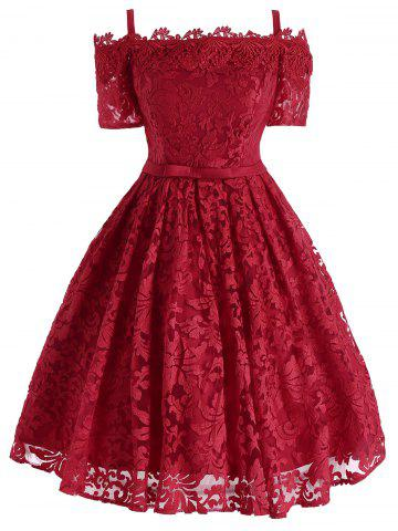 Outfits Lace Cold Shoulder Formal 1950 Prom Dress