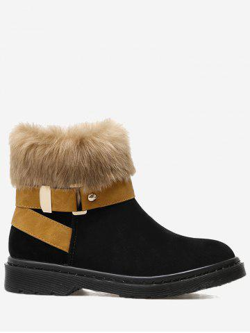 Outfits Low Heel Faux Fur Ankle Boots