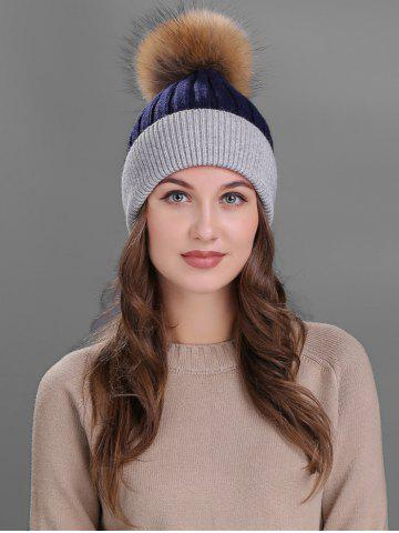 Fashion Vintage Fuzzy Ball Embellished Slouchy Beanie