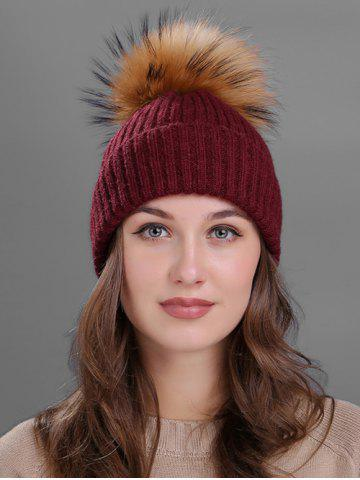 Sale Outdoor Crochet Flanging Pom Ball Knitting Beanie