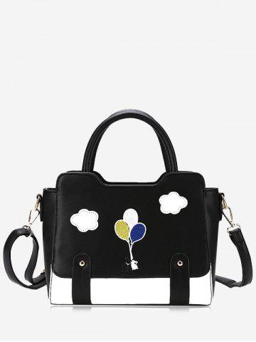 Buy Rivets Patchwork Color Block Crossbody Bag