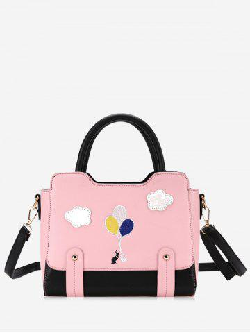 Best Rivets Patchwork Color Block Crossbody Bag
