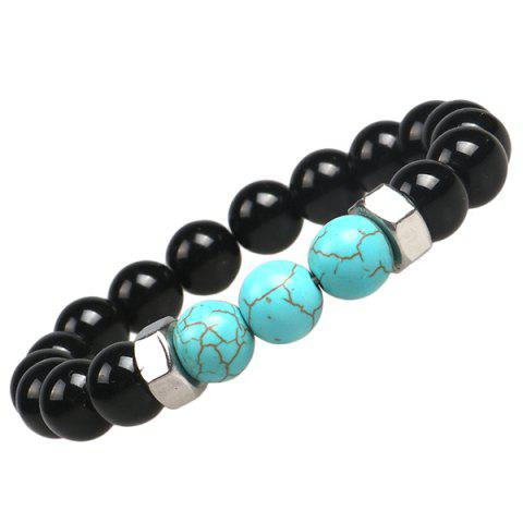 Best Natural Stone Strand Turquoises Bracelets - BLACK  Mobile