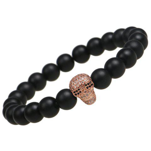 Best Skull Shape Strand Beads Bracelet ROSE GOLD