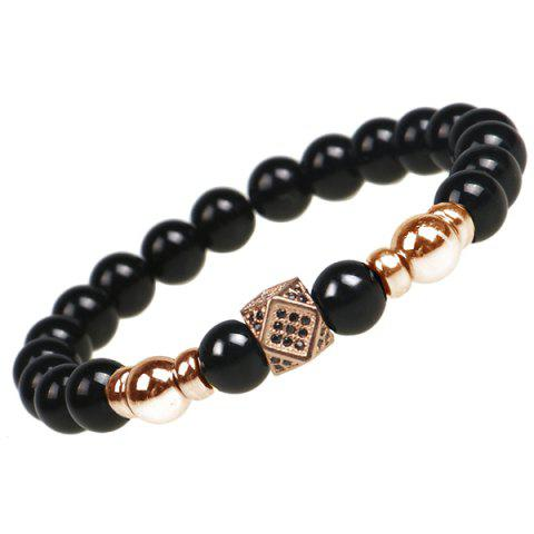 Trendy Retro Geometry Beads Print Bracelet