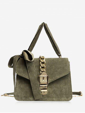 Outfit Chain Buckle Strap Bow Crossbody Bag