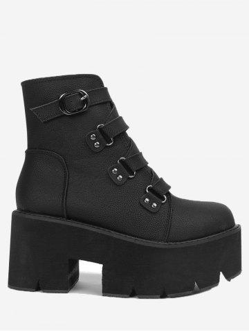 Latest Buckle Strap Platform Ankle Boots