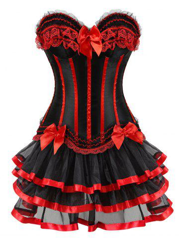 Buy Lace-up Two Piece Corset Dress