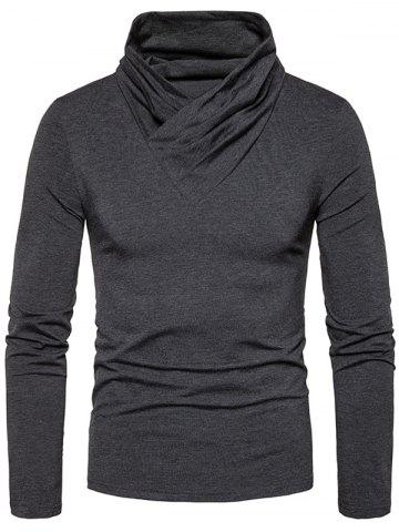 Fashion Classical Cowl Neck Long Sleeve T-shirt
