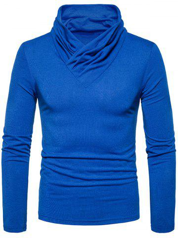Outfit Classical Cowl Neck Long Sleeve T-shirt