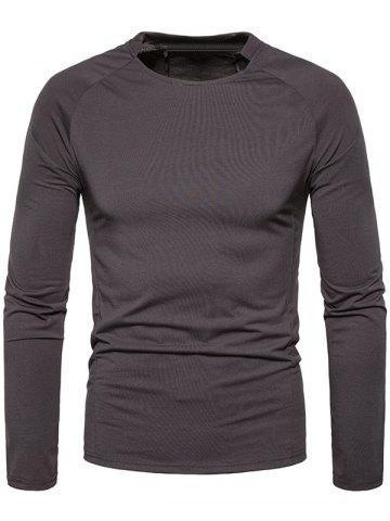 Sale Classical Crew Neck Raglan Sleeve T-shirt