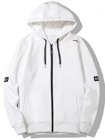 Graphic Patch Zip Front Hoodie