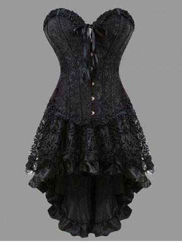 Black Corset Dress with Sleeves