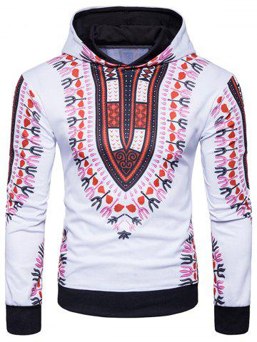Ethnic Style Florals Print Pullover Hoodie