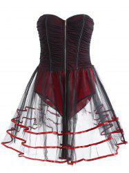 Sleeveless Strapless Underwire Club Corset Dress -