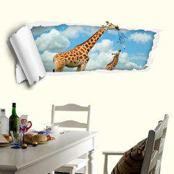Removable 3D Floor Decal Giraffe Wall Sticker - CLOUDY