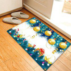 Christmas Baubles Tree Pattern Anti-skid Water Absorption Area Rug -