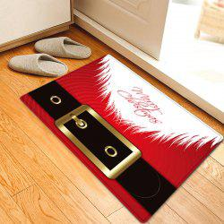Christmas Santa Costume Pattern Anti-skid Water Absorption Area Rug -