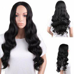 Long Center Parting Fluffy Body Wave Synthetic Wig -