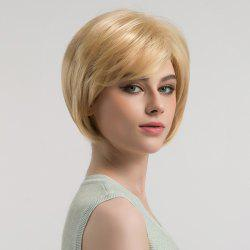 Oblique Bang Short Straight Bob Synthetic Wig -