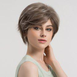 Short Colormix Side Bang Fluffy Straight Syntheitc Wig -