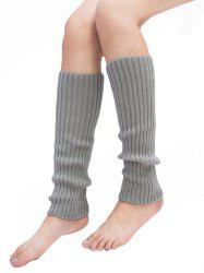 Vertical Striped Pattern Knitted Leg Warmers -