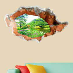3D Hole Landscape Removable Wall Decor Sticker -