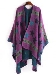 Stars Pattern Design Thicken Pashmina - PURPLE