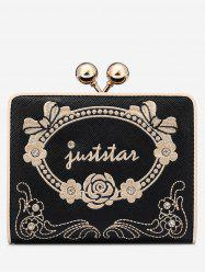 Rhinestone Metal Embroidery Wallet -