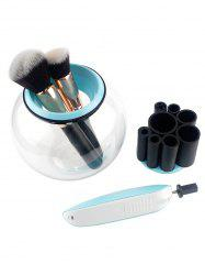 360 Degree Rotation Electric Makeup Brushes Cleaner - BLUE