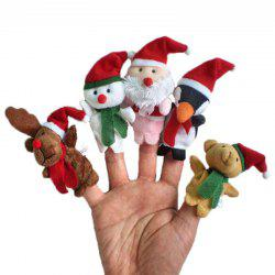 5 Pcs/Set Cute Plush Toy Christmas Finger Puppets -