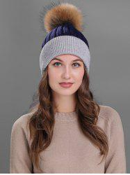 Vintage Fuzzy Ball Embellished Slouchy Beanie -