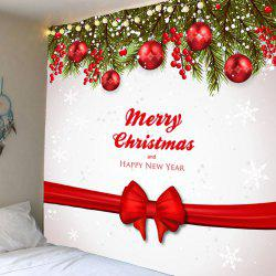 Wall Hanging Christmas Ribbon Balls Pattern Waterproof Tapestry - Colorful - W79 Inch * L79 Inch