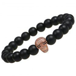 Skull Shape Strand Beads Bracelet - ROSE GOLD
