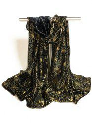Gilding Decorated Halloween Scarf - BLACK + GOLDEN