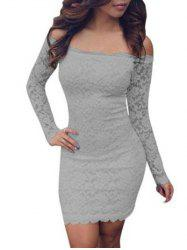 Lace Bodycon Off Shoulder Dress -